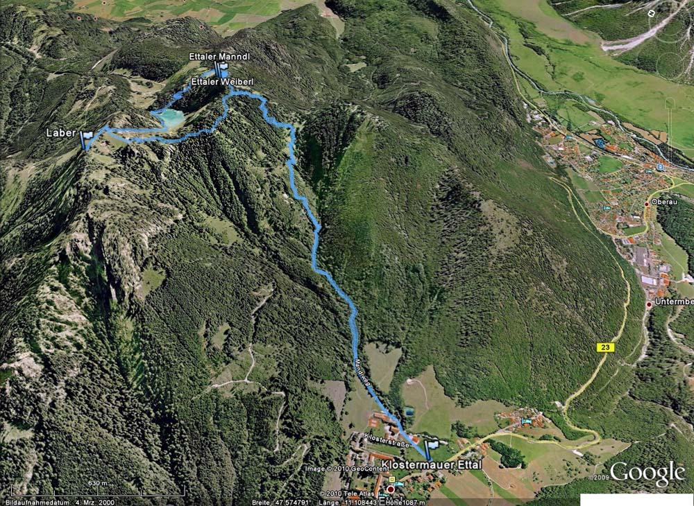 Klettersteig Am Ettaler Mandl : Ettaler manndl 1.633m und laber 1.673m