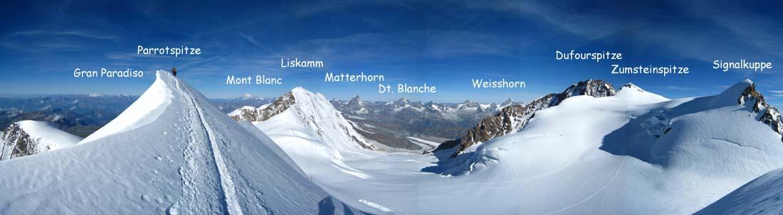 Große Monte Rosa-Durchquerung mit neun Viertausender: Breithorn ...